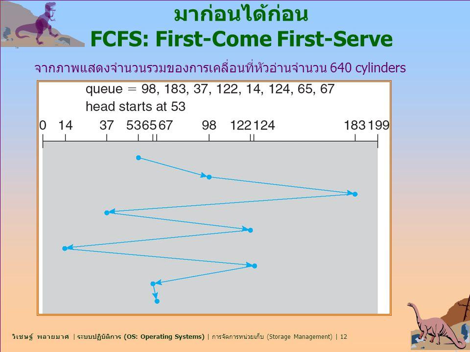 มาก่อนได้ก่อน FCFS: First-Come First-Serve