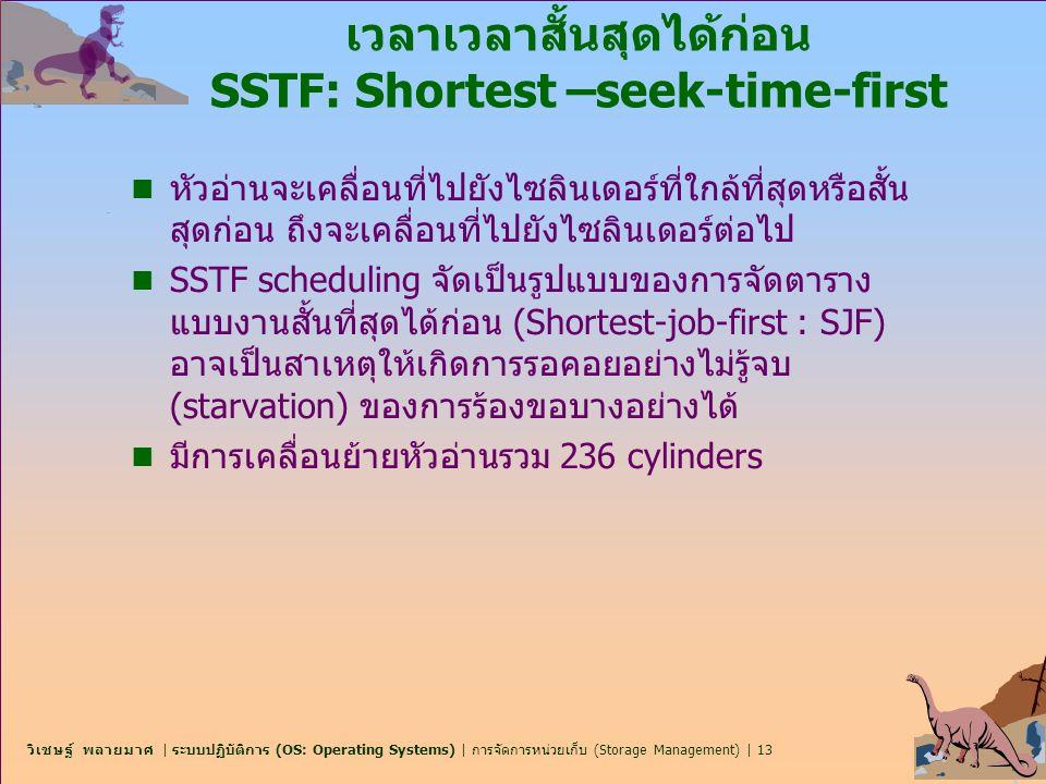เวลาเวลาสั้นสุดได้ก่อน SSTF: Shortest –seek-time-first