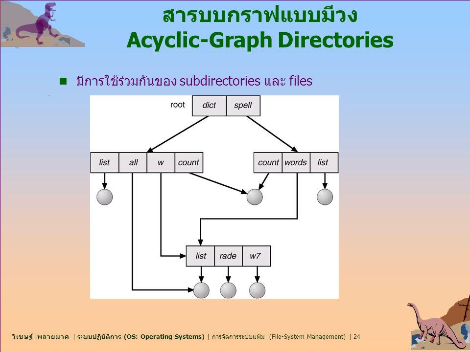 สารบบกราฟแบบมีวง Acyclic-Graph Directories