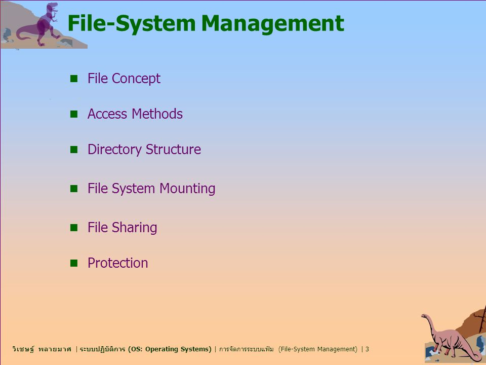 File-System Management