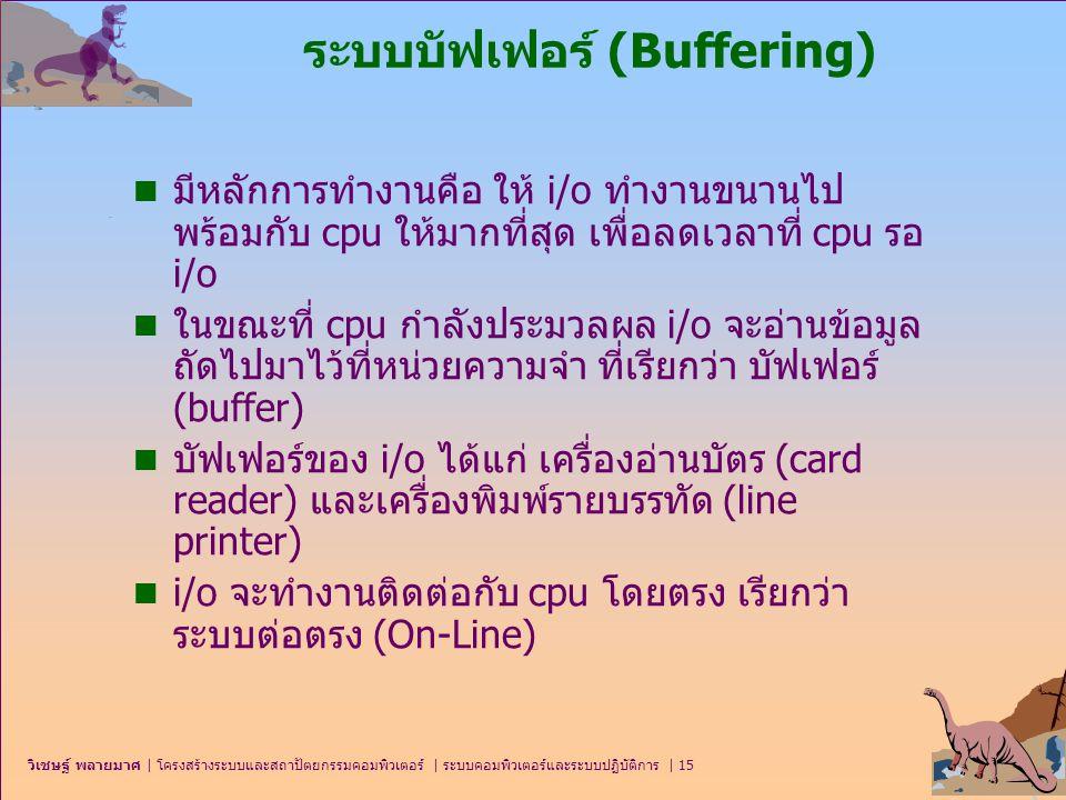 ระบบบัฟเฟอร์ (Buffering)