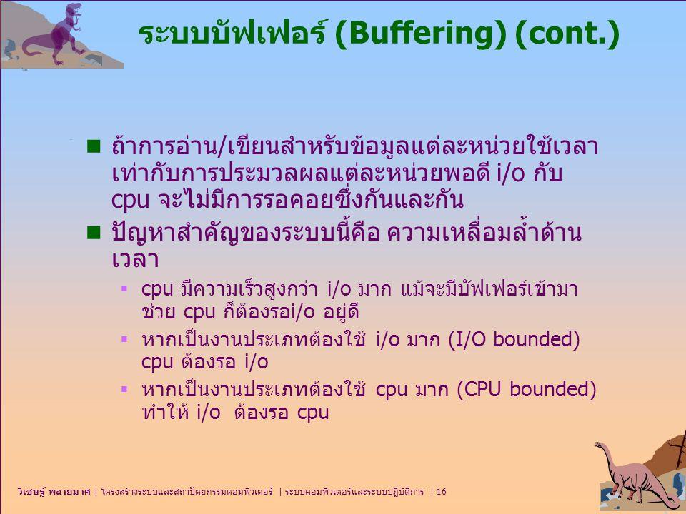 ระบบบัฟเฟอร์ (Buffering) (cont.)