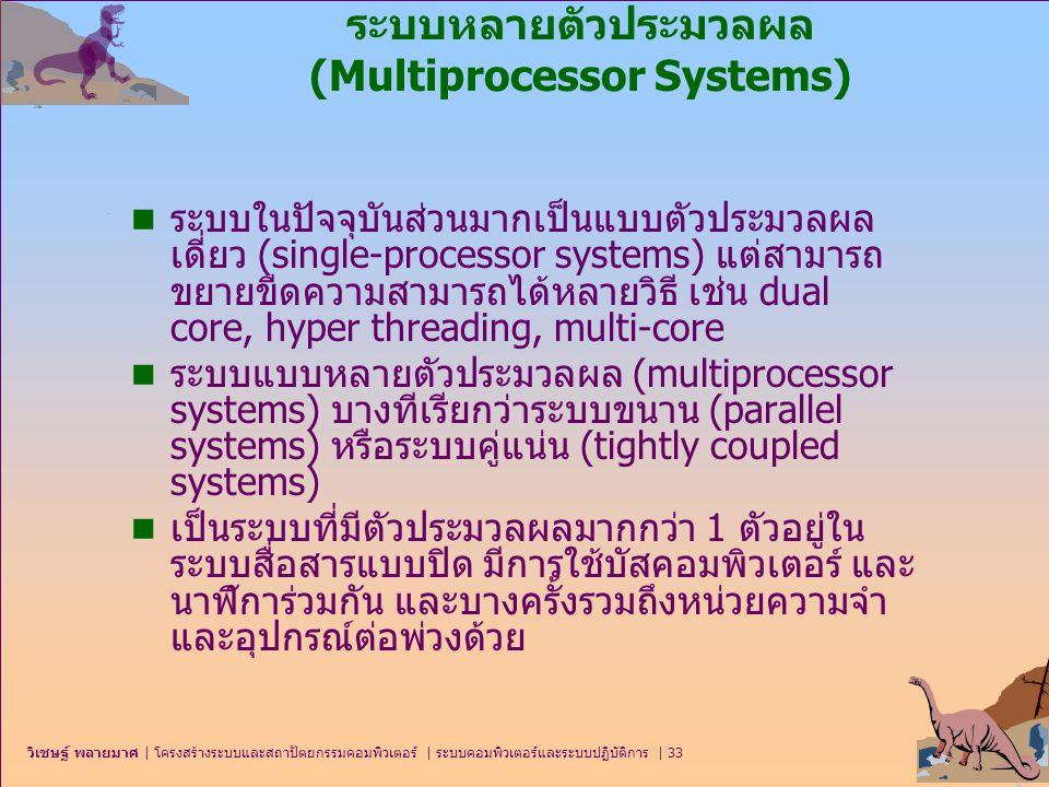 ระบบหลายตัวประมวลผล (Multiprocessor Systems)