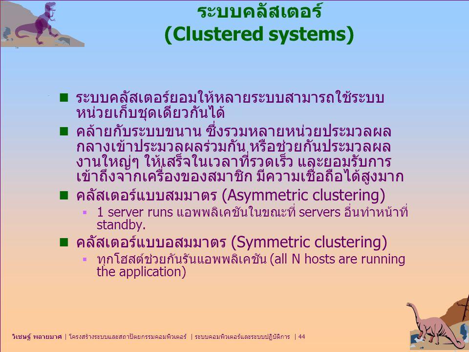 ระบบคลัสเตอร์ (Clustered systems)