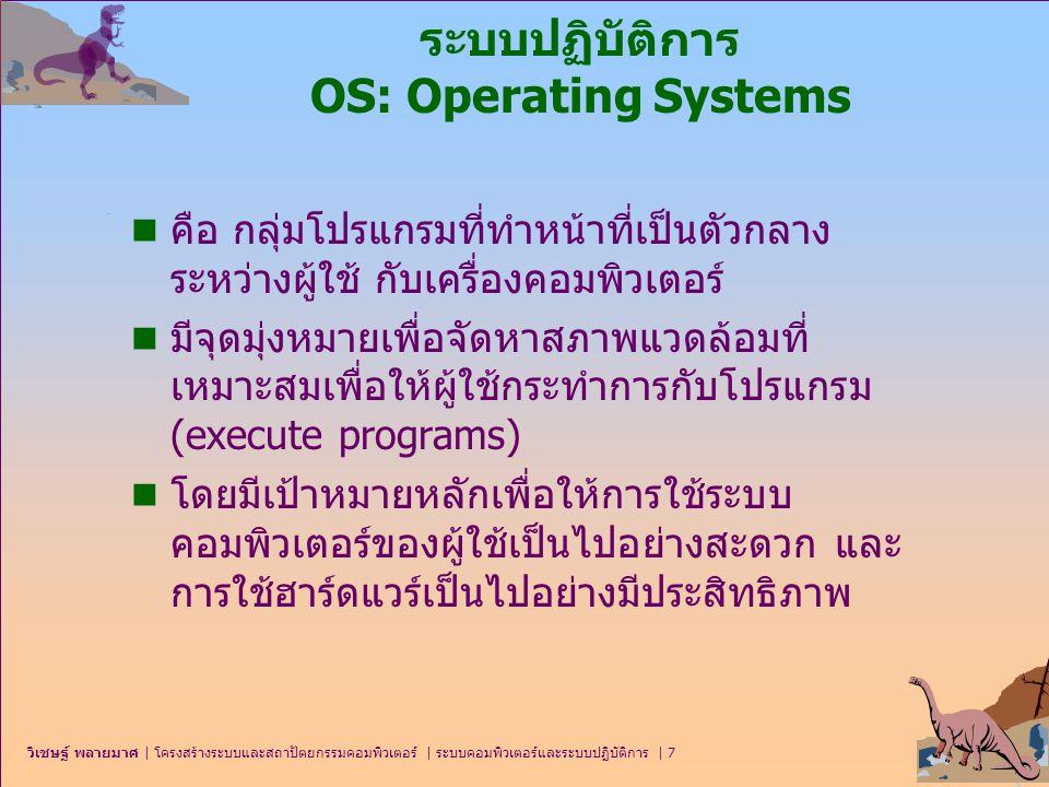 ระบบปฏิบัติการ OS: Operating Systems