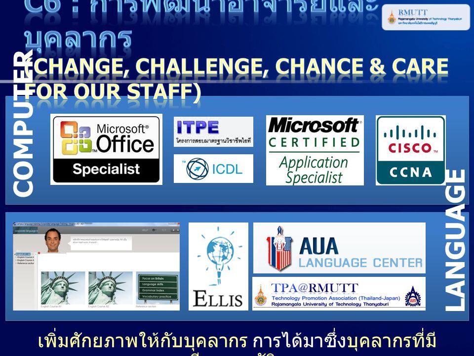 C6 : การพัฒนาอาจารย์และบุคลากร (Change, Challenge, Chance & Care for Our Staff)