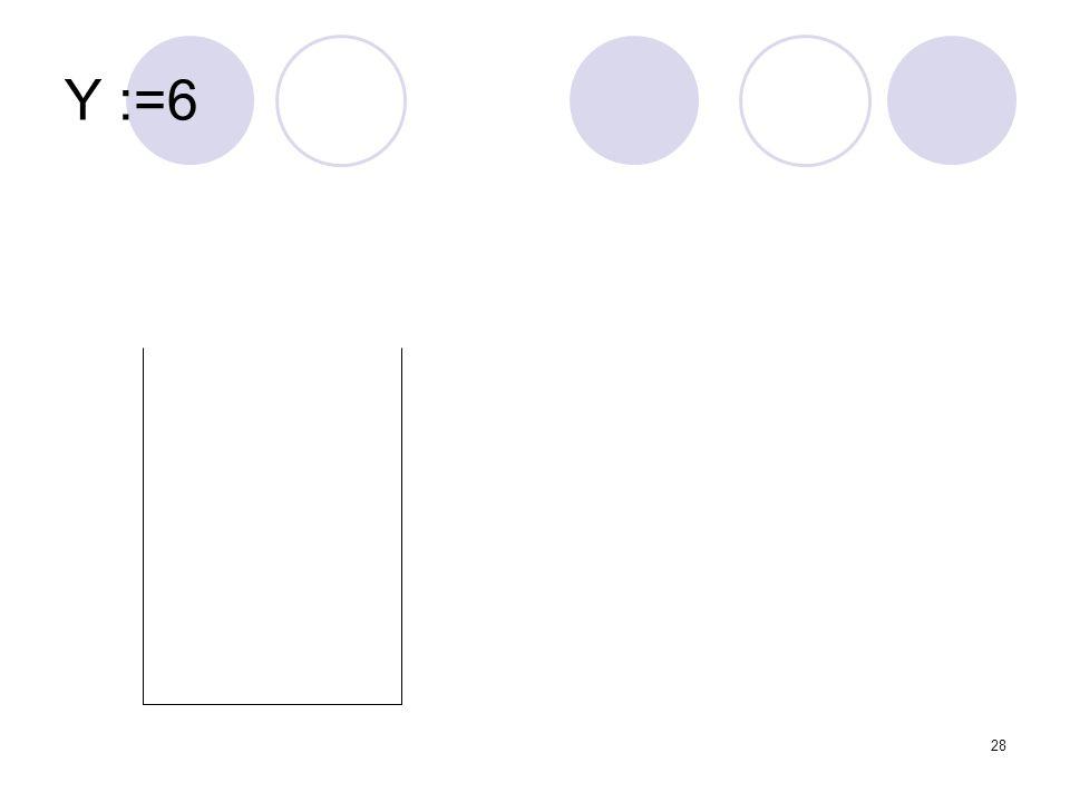 Y :=6