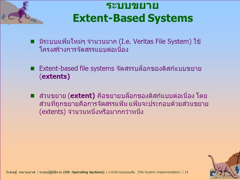 ระบบขยาย Extent-Based Systems