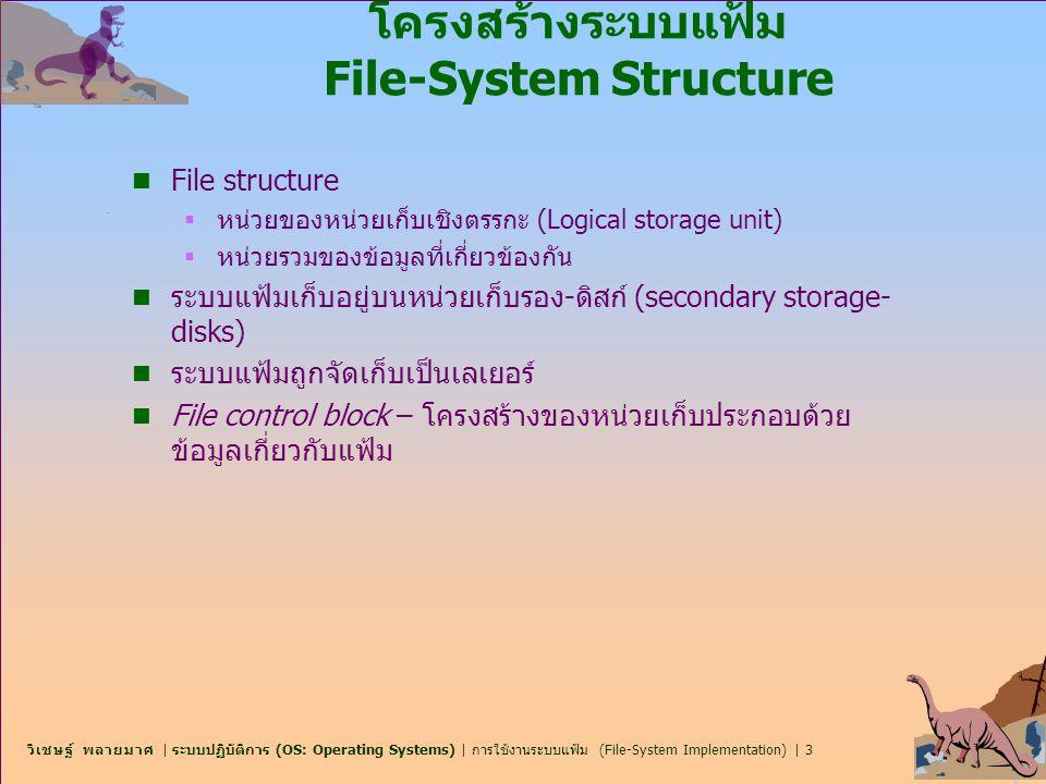 โครงสร้างระบบแฟ้ม File-System Structure