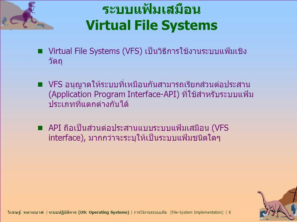 ระบบแฟ้มเสมือน Virtual File Systems