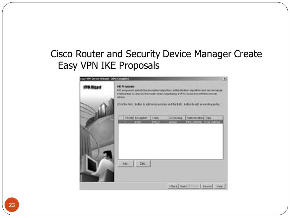 Cisco Router and Security Device Manager Create Easy VPN IKE Proposals