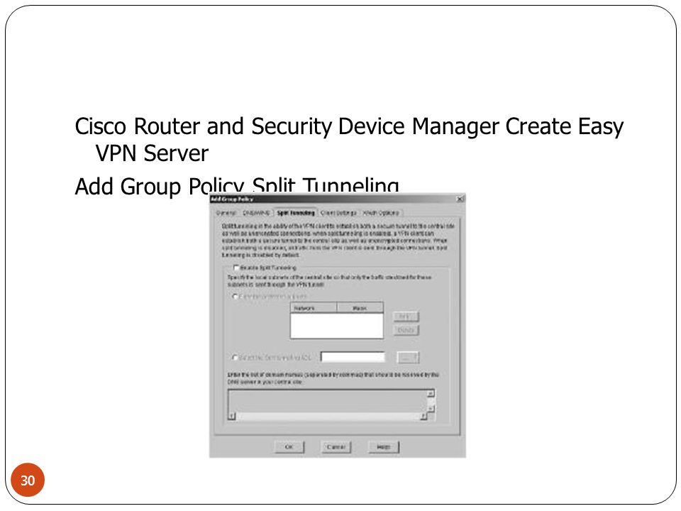 Cisco Router and Security Device Manager Create Easy VPN Server