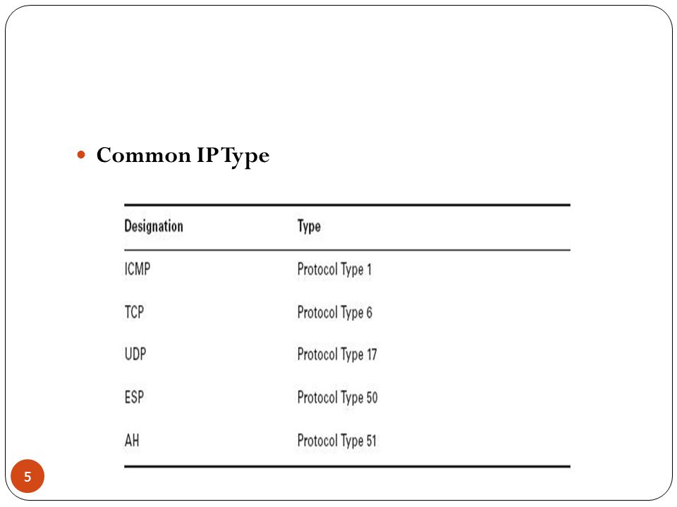 Common IP Type