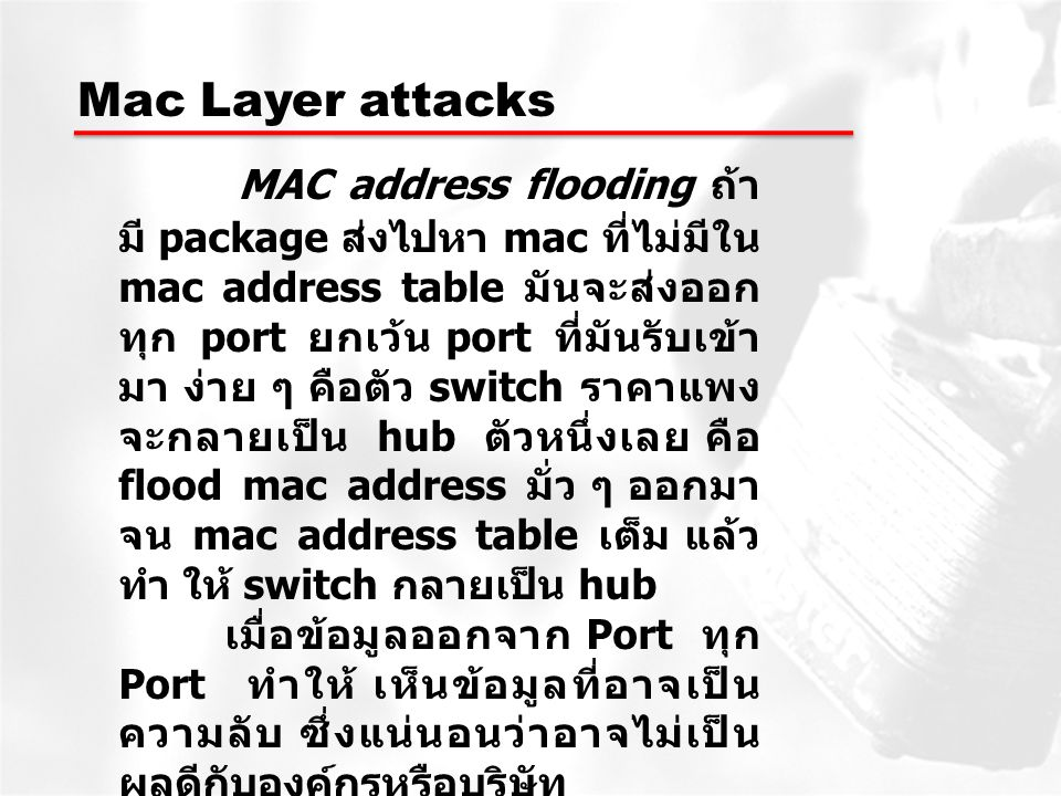 Mac Layer attacks