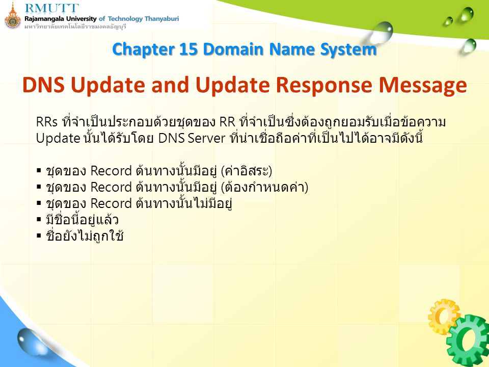 DNS Update and Update Response Message