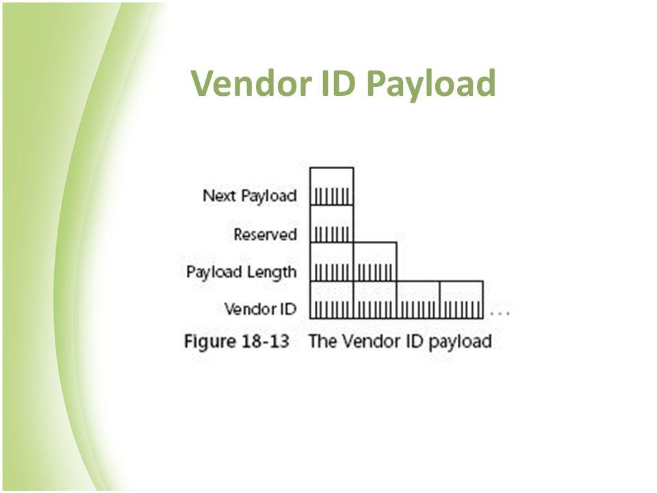 Vendor ID Payload