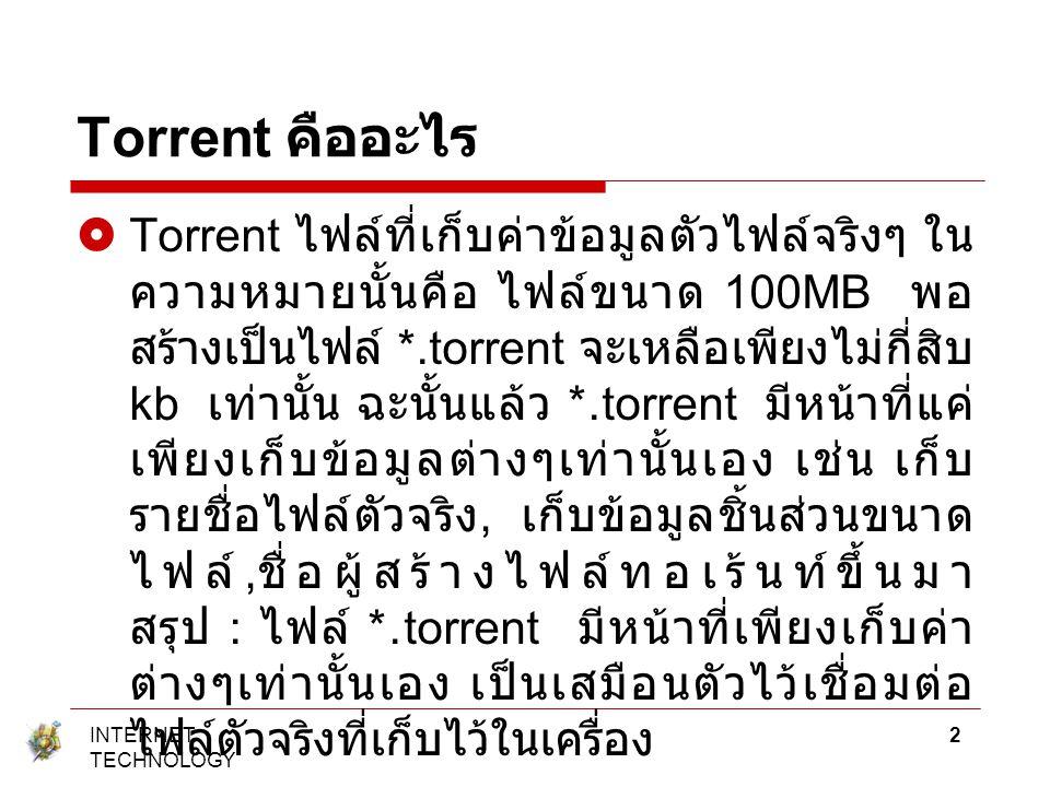 Torrent คืออะไร