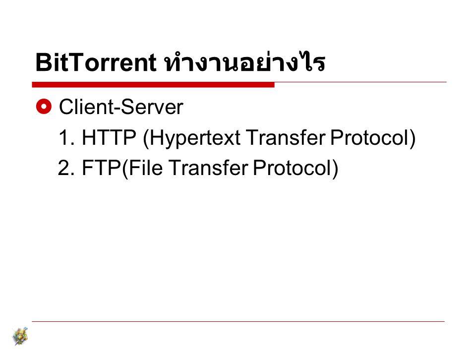 BitTorrent ทำงานอย่างไร