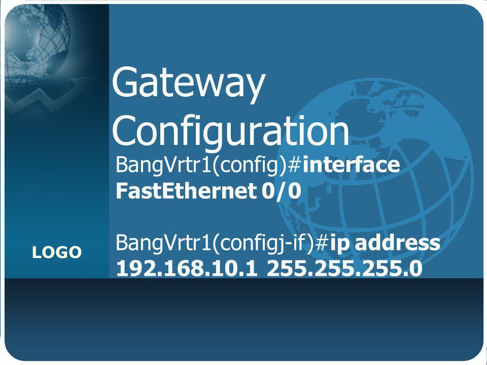 Gateway Configuration
