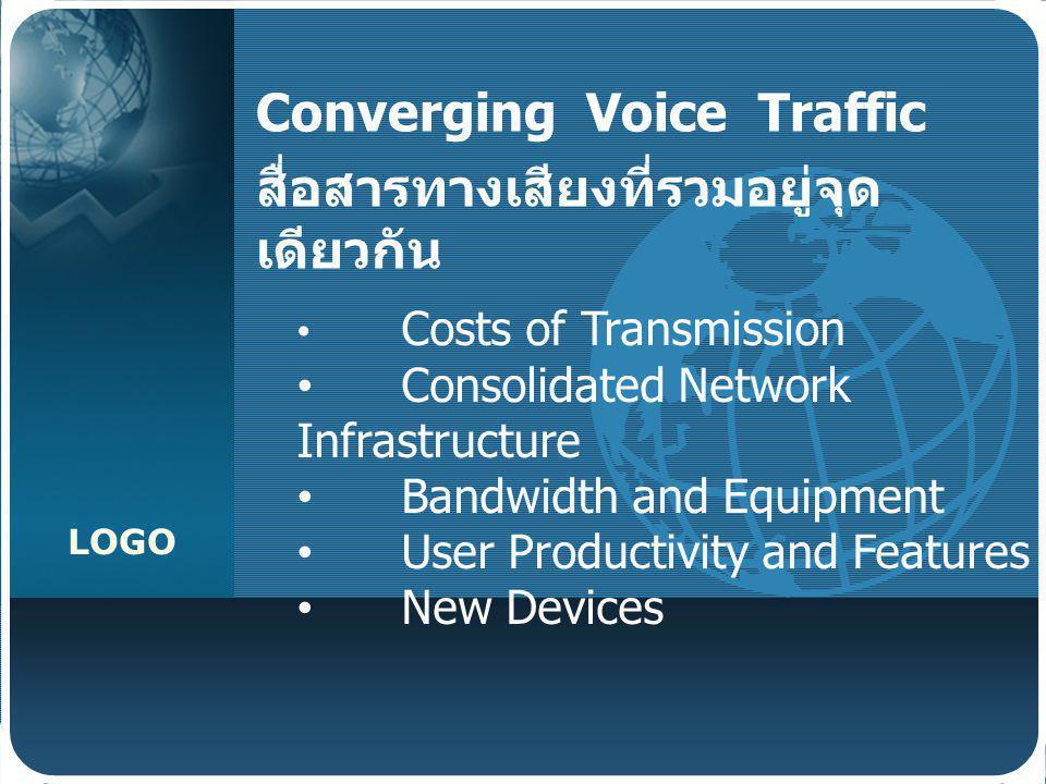 Converging Voice Traffic สื่อสารทางเสียงที่รวมอยู่จุดเดียวกัน