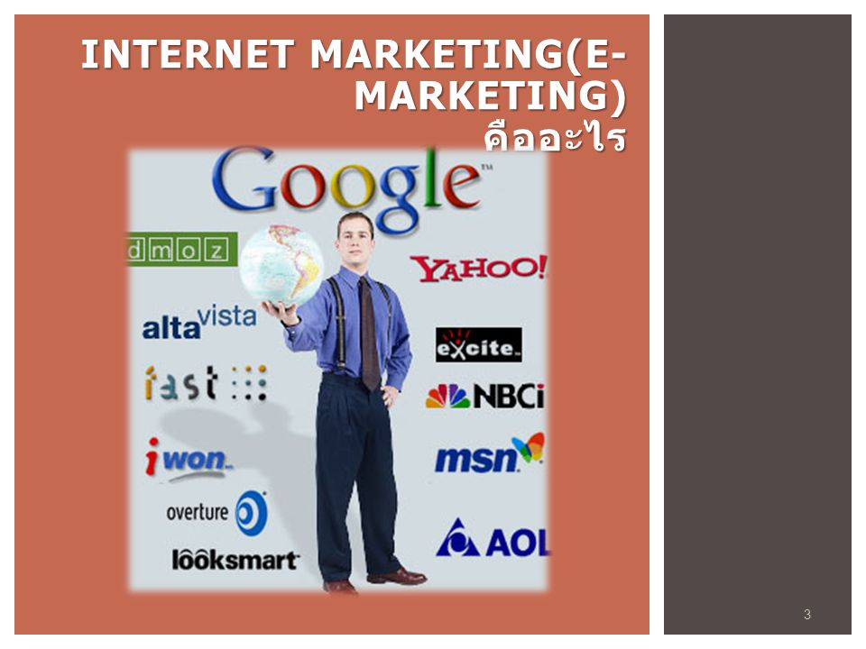 Internet Marketing(E-Marketing) คืออะไร