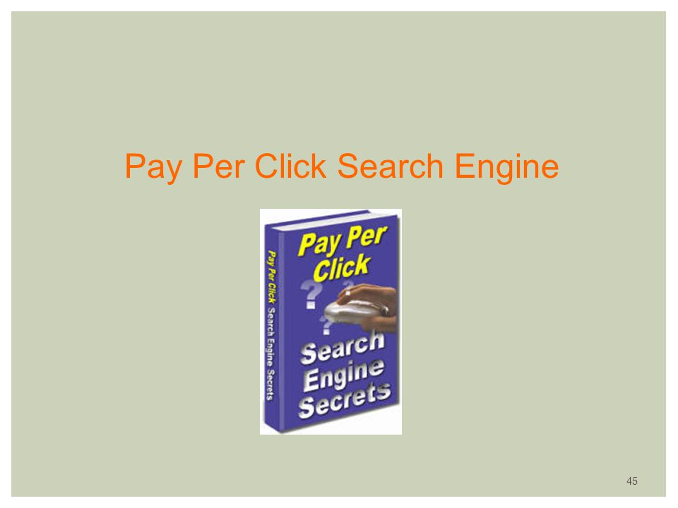 Pay Per Click Search Engine