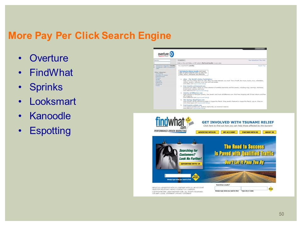 More Pay Per Click Search Engine