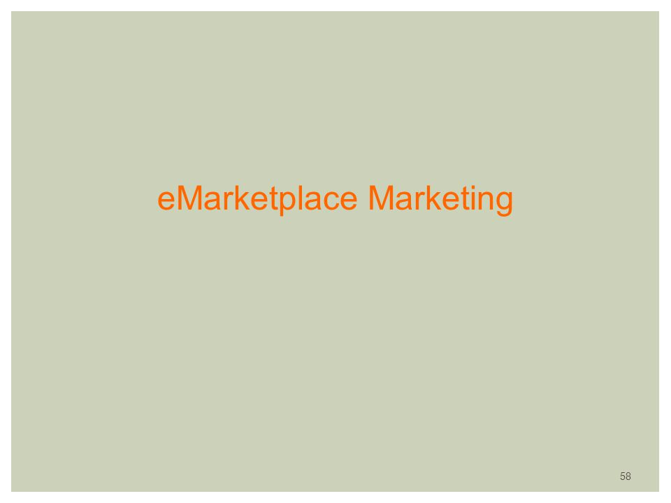 eMarketplace Marketing