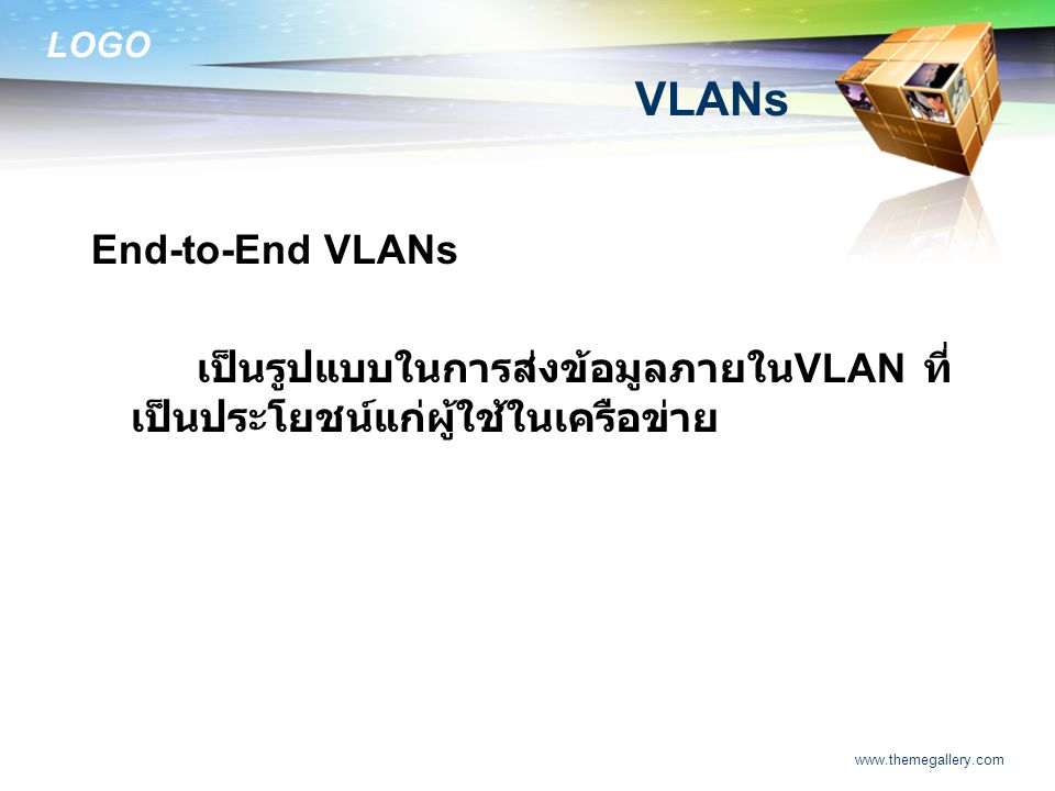 VLANs End-to-End VLANs