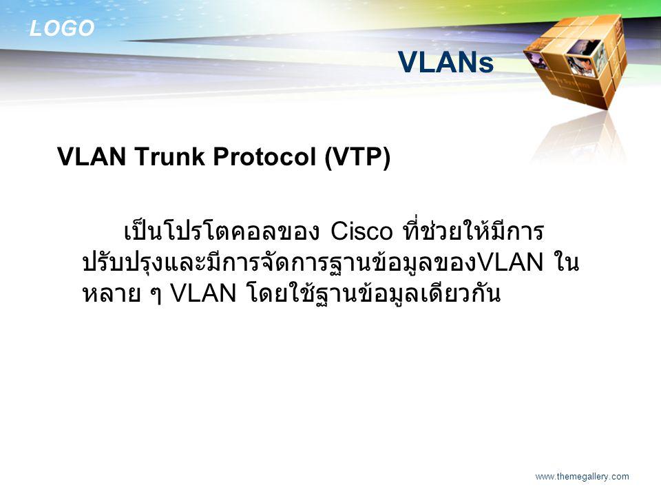 VLANs VLAN Trunk Protocol (VTP)