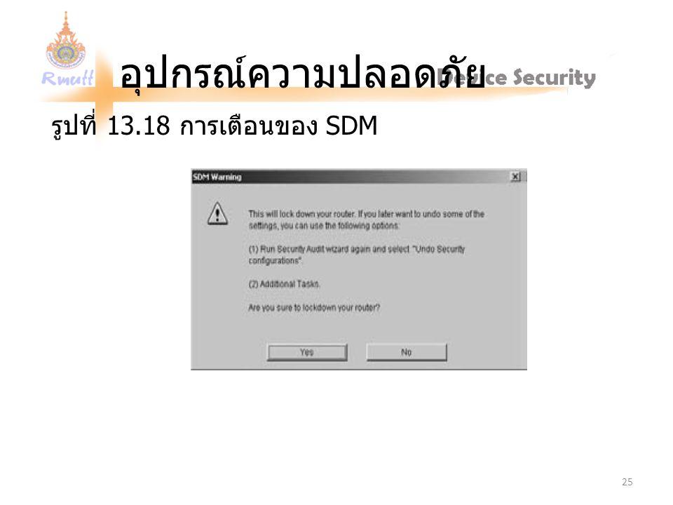 รูปที่ 13.18 การเตือนของ SDM