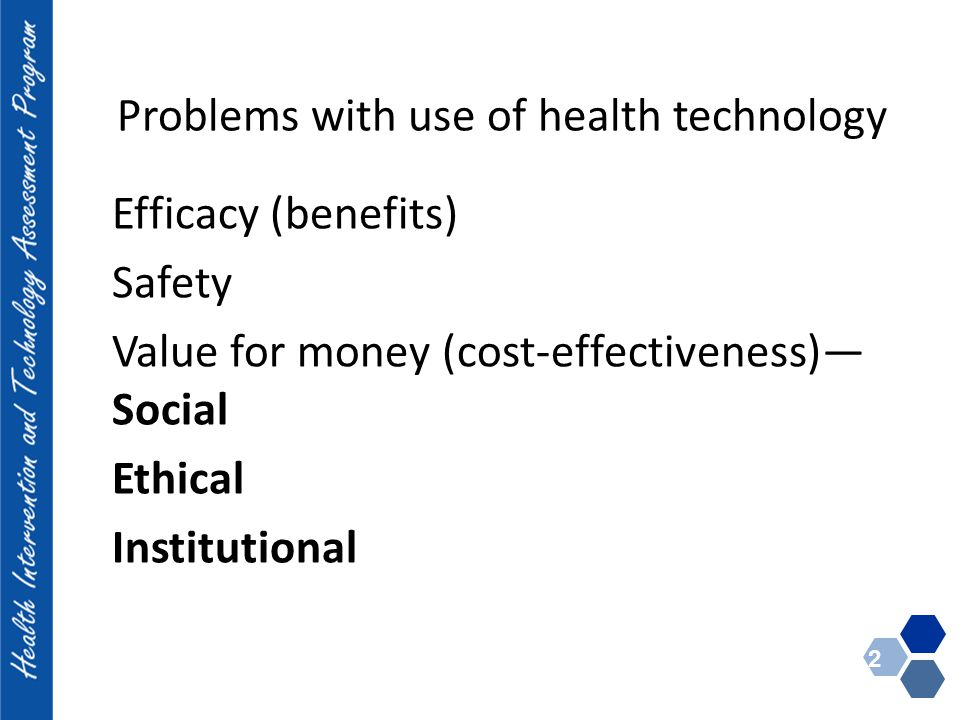 Problems with use of health technology