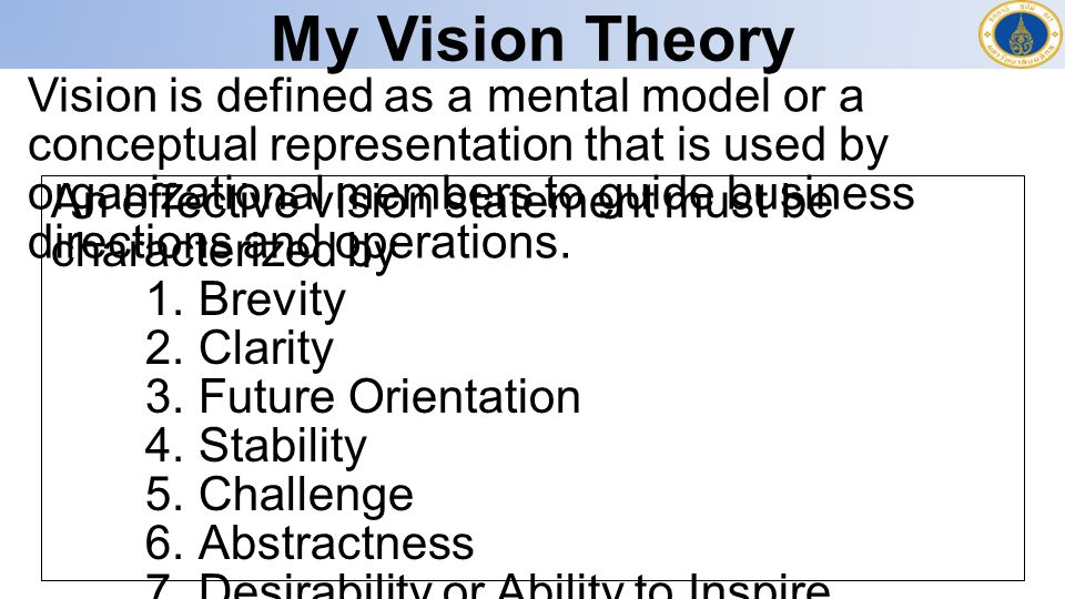 My Vision Theory