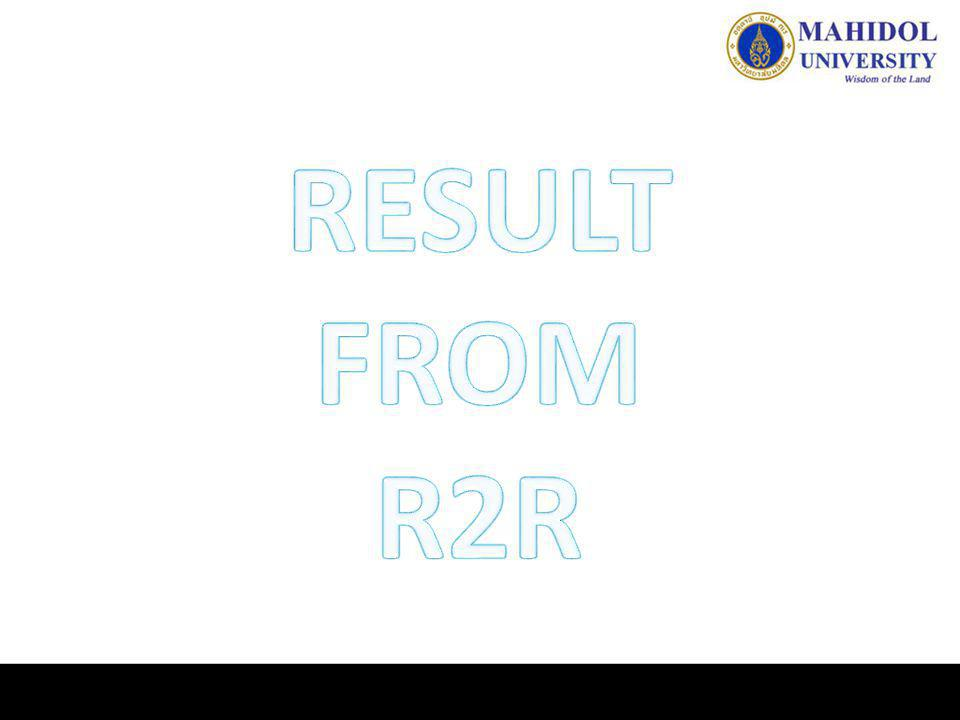 RESULT FROM R2R