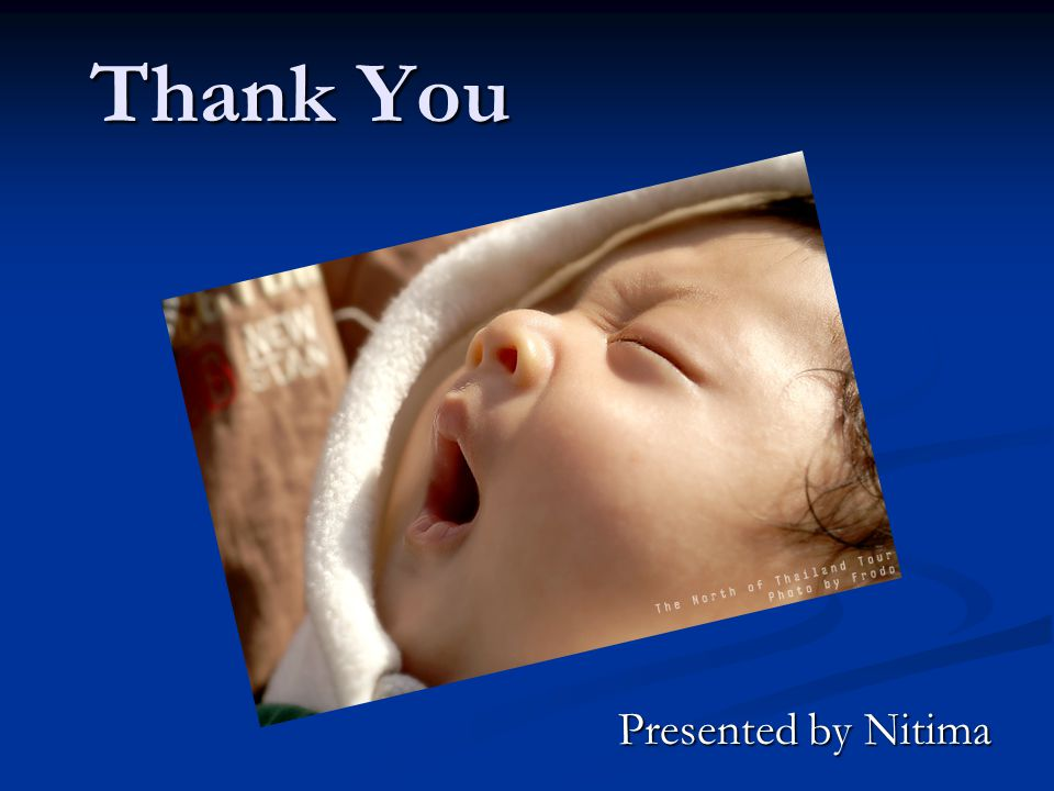 Thank You Presented by Nitima
