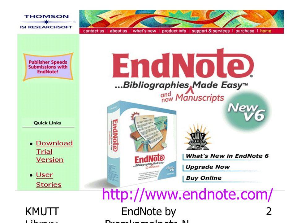 EndNote by Premkamolnetr, N.