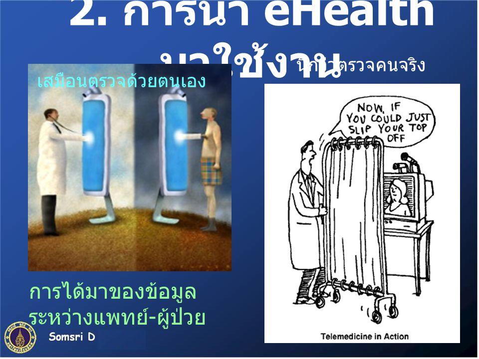 2. การนำ eHealth มาใช้งาน