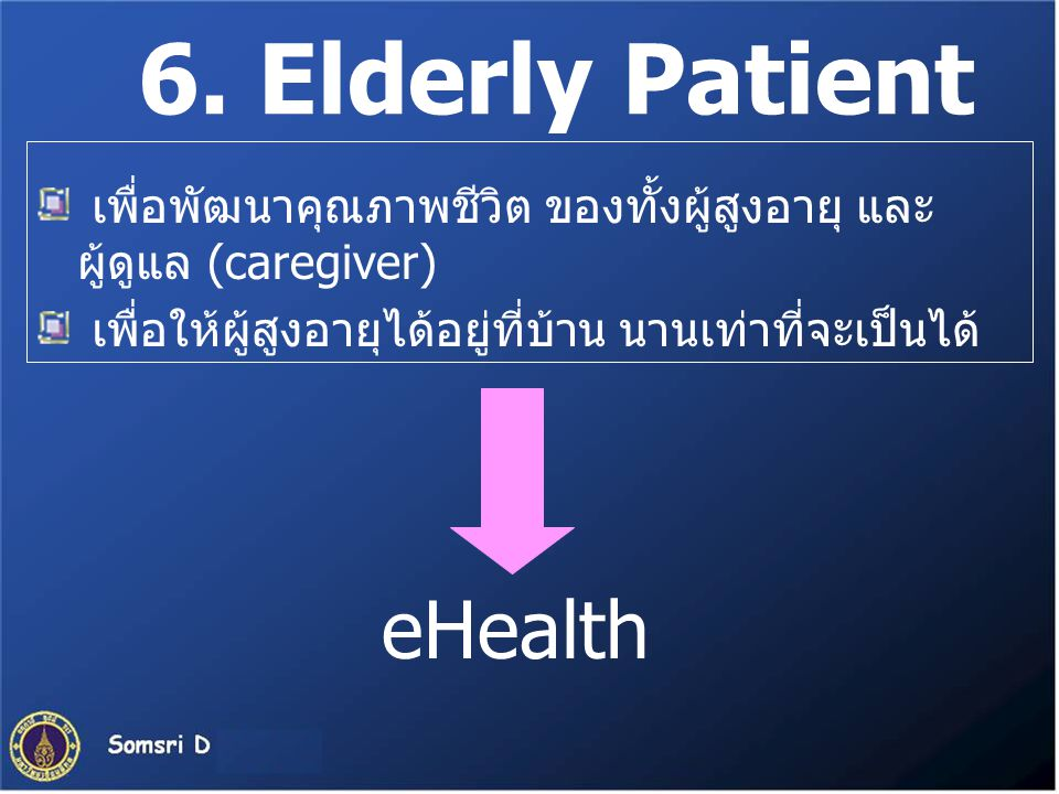 6. Elderly Patient eHealth