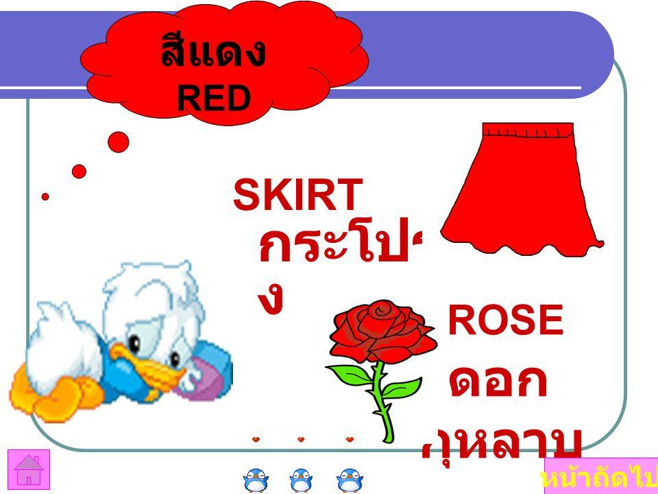 สีแดง RED SKIRTกระโปรง ROSE ดอกกุหลาบ หน้าถัดไป