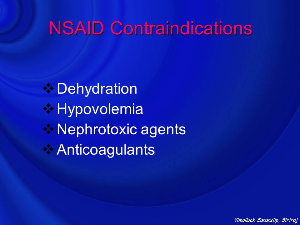 NSAID Contraindications