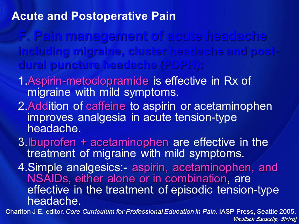 Acute and Postoperative Pain