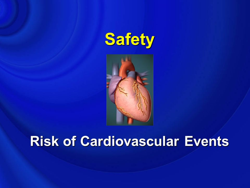 Safety Risk of Cardiovascular Events
