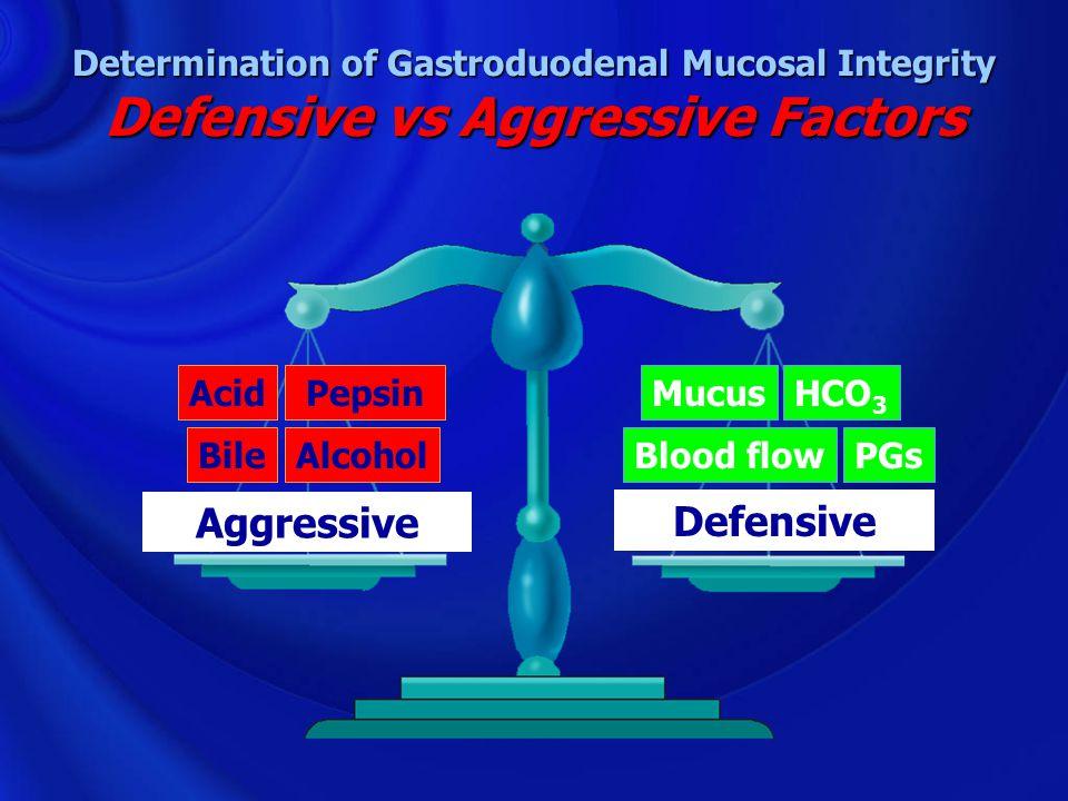 Determination of Gastroduodenal Mucosal Integrity Defensive vs Aggressive Factors
