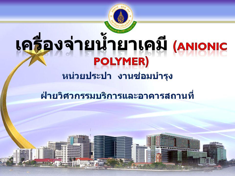 เครื่องจ่ายน้ำยาเคมี (Anionic Polymer)