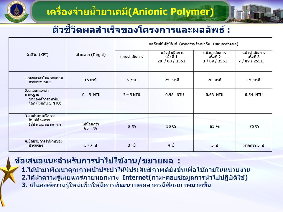 เครื่องจ่ายน้ำยาเคมี(Anionic Polymer)