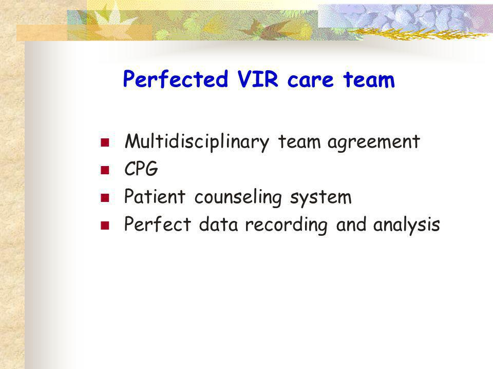 Perfected VIR care team