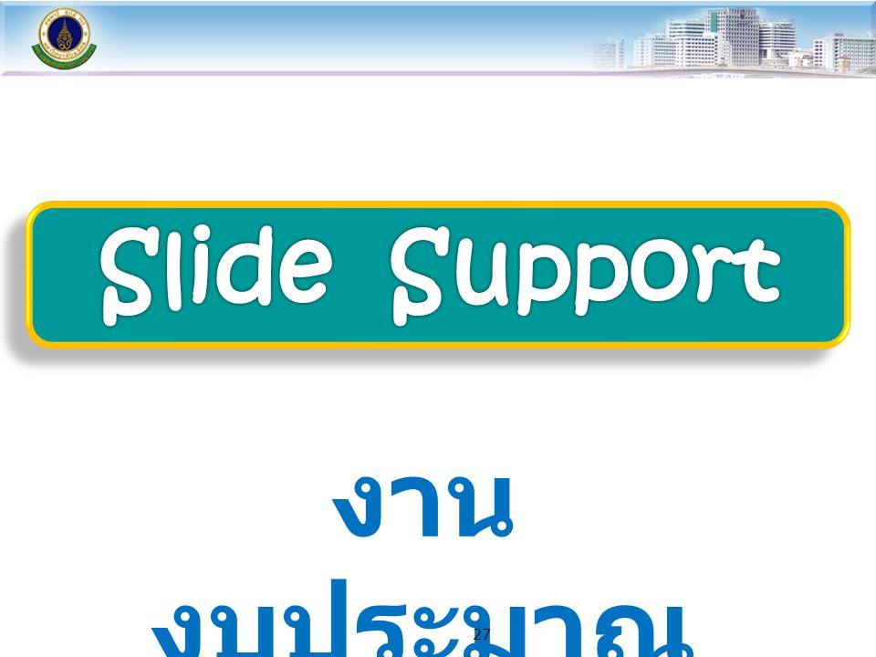 Slide Support งานงบประมาณ