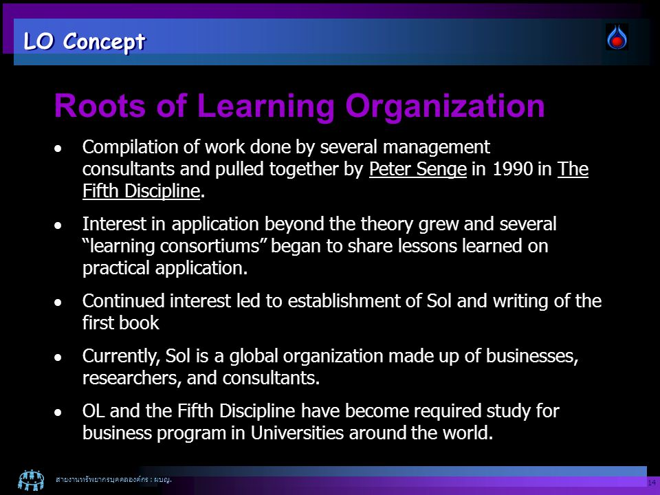 Roots of Learning Organization