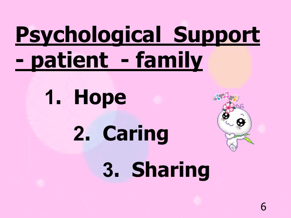 Psychological Support - patient - family