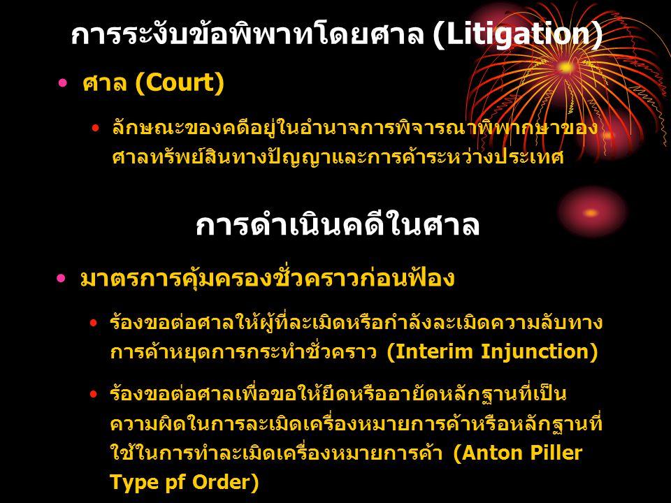 การระงับข้อพิพาทโดยศาล (Litigation)